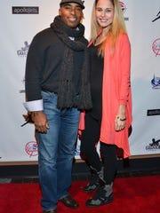 Tiki Barber and Traci Lynn Johnson (Photo by Jeremy Smith)