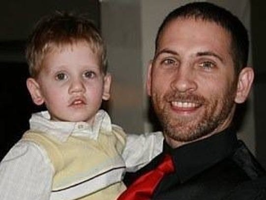 Armstrong Zortman (left) with his dad, Rik Zortman.