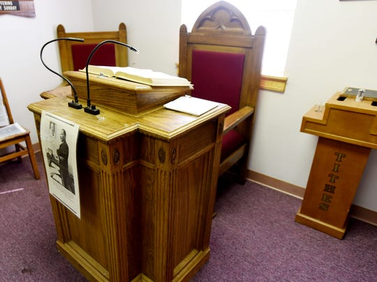 The Martin Luther King chair and pulpit that he used
