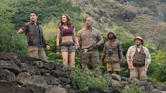 Before Johnson runs for president, he has to escape 'Jumanji' (opening  Dec. 20).
