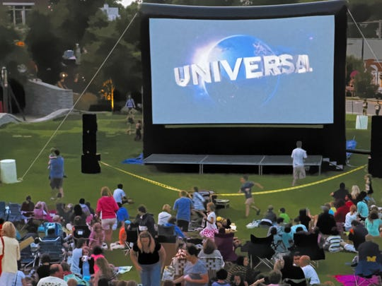 Movie Nights under the stars in Booth Park.