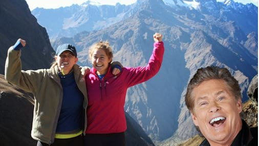 David Hasselhoff is not sorry for worldwide photobombs. The guy gets around.