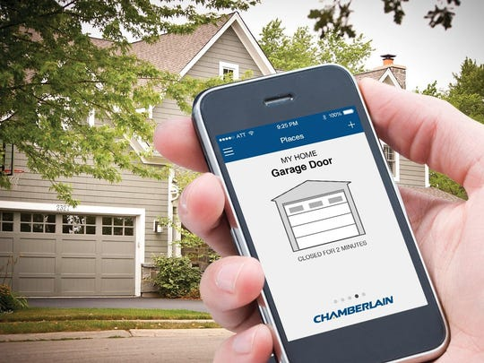 The Wi-Fi-enabled Chamberlain's MyQ Garage Smartphone Garage Door Controller shows if your garage has been left open and lets you close or open it from anywhere in the world.