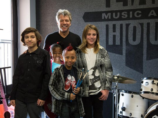 In 2014, Jon Bon Jovi stopped by to talk to students