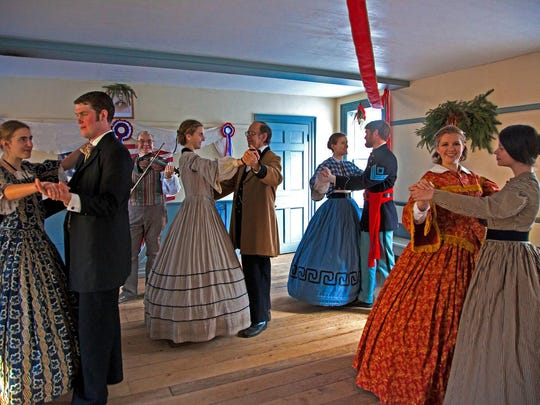 Yuletide in the Country tours of Genesee Country Village, where visitors can interact with characters from 1849 (in period costume) celebrating Christmas, begin at 5 p.m. Friday.