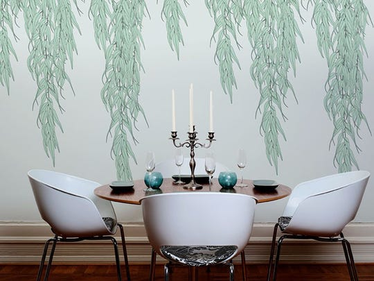 """Traditional ideas of pattern are rethought with Willow, which utilizes A and B panels to create an expansive, wholly organic look. This understated but striking concept turns any ordinary wall into the sanctuary formed under the boughs of a weeping willow. The """"Willow"""" paper Willow's pattern is created using A and B panels, hence it takes one A roll and one B roll to create a full pattern repeat. - See more at: http://detroitwallpaper.com/index.php/collections/botanicals/willow.html#sthash.fcOreZd1.dpuf"""