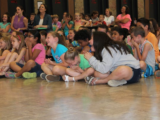 Students at Highland Elementary School at the Morris brothers anti-bullying assembly.