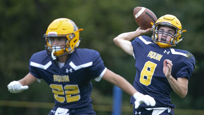 Aquin's Will Gustafson led the NUIC in passing yards (1,831) and touchdowns (22) as a junior last year. The Bulldogs will remain in Class 1A this fall but will move to 8-man football starting in 2021.