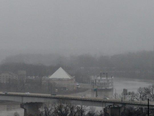 Rain in Shreveport on January 3, 2019.