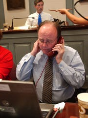 Secretary of the Senate Bernard Brady busy keeping