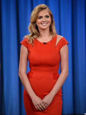 Kate Upton visits 'Late Night with Jimmy Fallon' at Rockefeller Center on Sept. 18, 2013, in New York City.