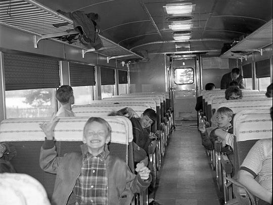 In 1971, Cub Scouts riding the Budd Car.