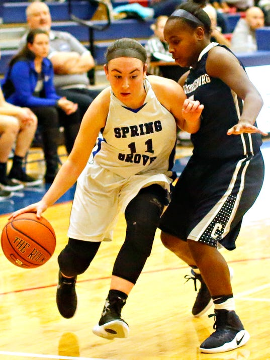 Chambersburg vs Spring Grove girls basketball