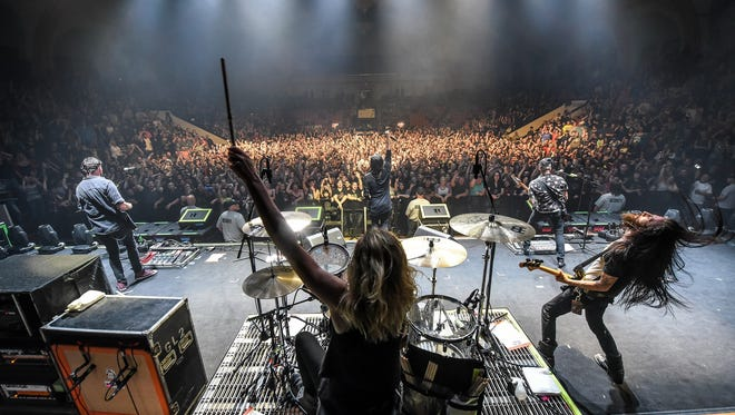 After paying lots of dues, Pop Evil  sells out 500-seat venues and plays for thousands on tours with high-profile rock bands.