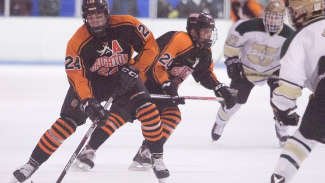 Jake Crespi of Brighton had two goals and one assist in a 5-2 victory over Cleveland St. Ignatius Friday in Trenton.