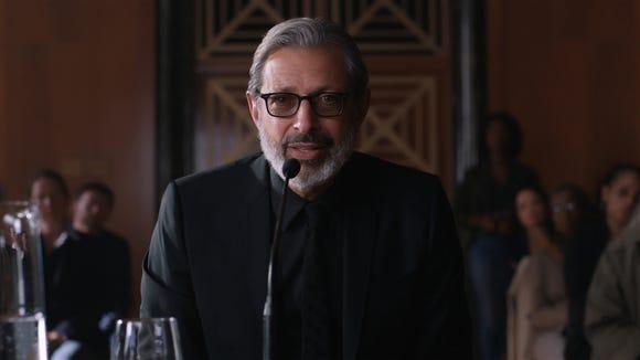 Ian Malcolm (Jeff Goldblum) testifies before Congress
