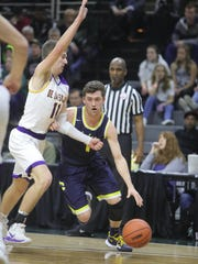 Clarkston's Foster Loyer, an MSU signee, scored 42 points during Friday's Class A semifinals against Warren De La Salle.