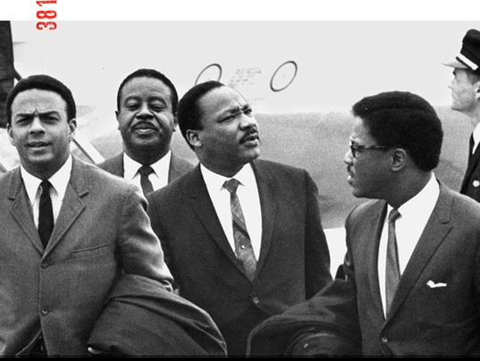 Dr. Martin Luther King Jr. arrives at Memphis airport April 3, 1968