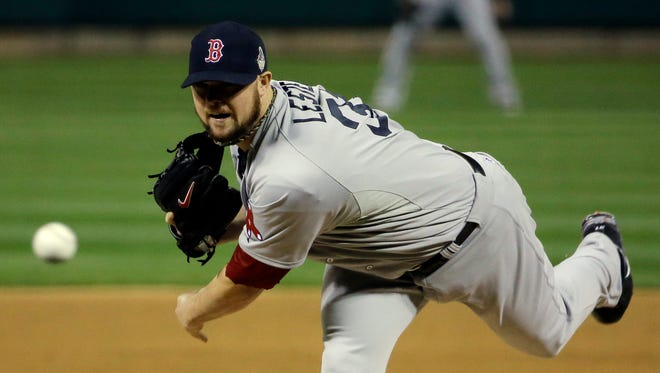 Jon Lester allowed four hits and no walks in 7 2/3 innings in Game 5.