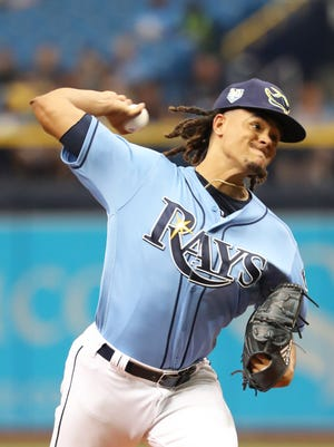 Chris Archer pitched at least 200 innings and struck out at least 200 batters from 2015-2017.