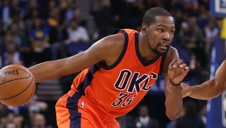 Thunder forward Kevin Durant's 40-point, 14-rebound, five-assist outing against the Warriors was as good a job interview as you'll ever find.