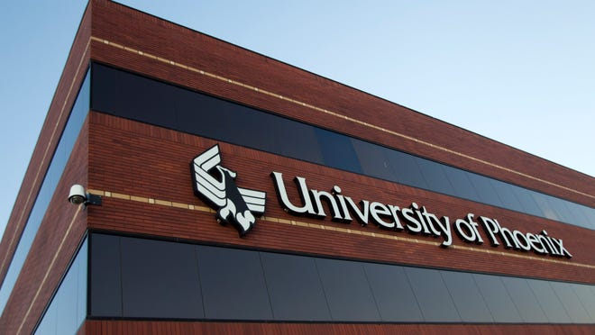 The Apollo Education Group, parent of the University of Phoenix, has seen its stock fall  sharply on lower earnings and enrollment.