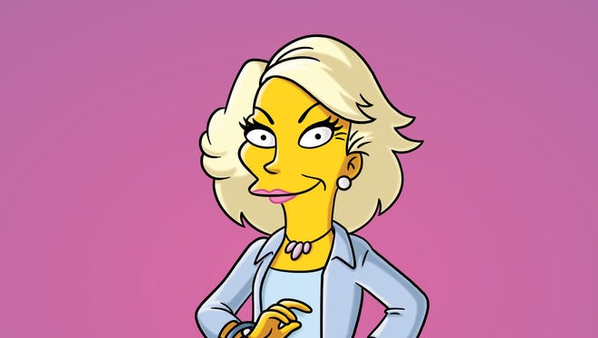 'The Simpsons' honored Joan Rivers, depicted here as Annie Dubinsky in her 2011 guest appearance, in Sunday's Season 26 premiere.