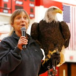 """Birds of Prey"" Tour Visits Southwestern Middle School"