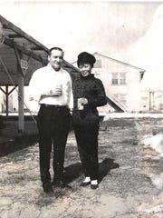 Shizuno with her husband, Gary, in Japan.