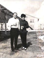 Shizuno with her husband, Gary, in Japan.