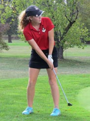 Freshman Olivia Ohmer has been the medalist in four