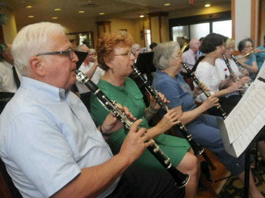 The New Horizons Band, a Cumberland Valley School of Music band for those who are ages 50 and older, plays for residents of Northgate at Menno Haven in May 2012. Ryan Blackwell -- Public Opinion