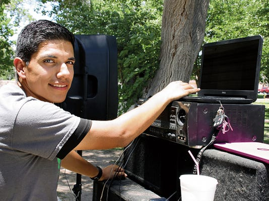 Sergio Quezada, 19, who is otherwise known as DJ No No. The 2014 Deming High graduate helped organize Saturday's carnival to help raise money for Christina Sotelo's fight against cancer.