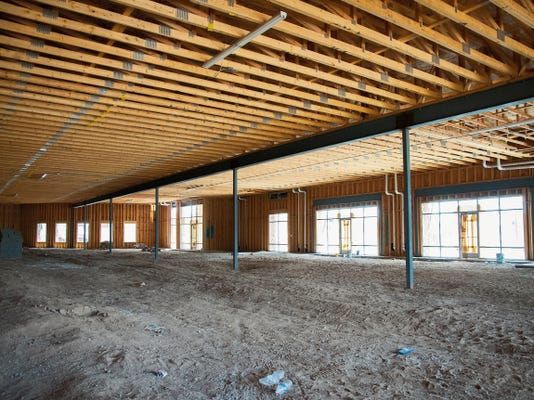 Jett Loe--Sun-News   The interior of a new commercial space under construction on East Lohman Avenue.