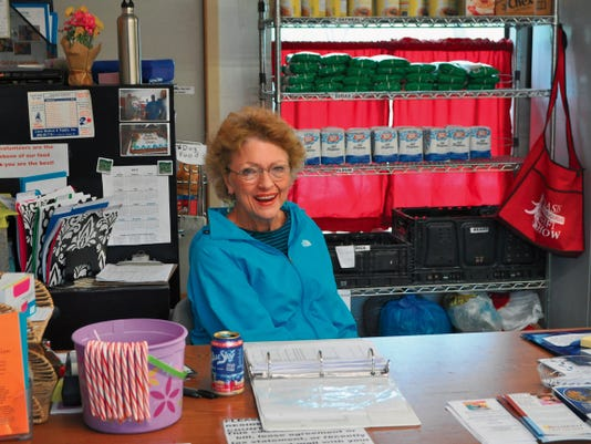 Batti Buffington welcomes patrons to the Lincoln County Food Bank and helps them get signed up, or just to pick up their monthly boxes. Buffington said she is honored to be there and gets more than she gives when she meets the clients and hears their stories.