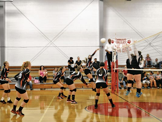 The Capitan High School volleyball team is seen here at a 2014 game against Carrizozo Lady Grizzlies. The two meet this year at 5 p.m. Sept. 1 in Capitan.