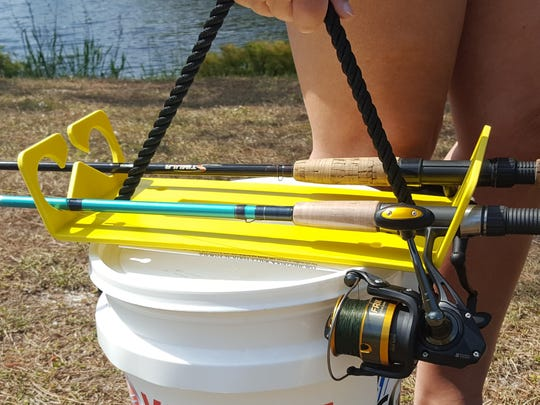 The Stash n Carry rod storage and transport system, invented by Sebastian resident George Magill, offers anglers an alternative to disorganized tackle storage and bulky transport to the fishing hole. See the product and meet Magill at the Indian River Nautical Flea Market in Vero Beach April 14-15.