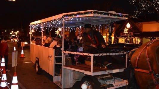 Christmas in Plymouth, along with carriage rides, returns Thursday night.