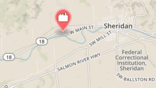 McFarland Cascade Holdings operates a wood preserving facility at 22125 Rock Creek Road in Sheridan.