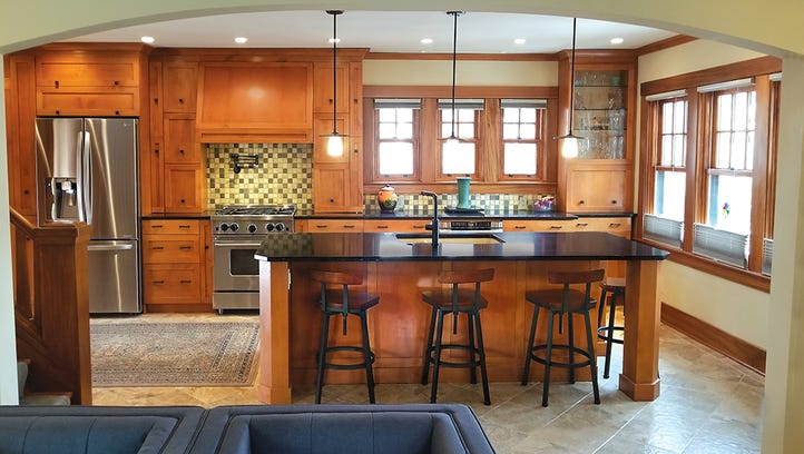 Contemporary kitchen, designed in the context of a