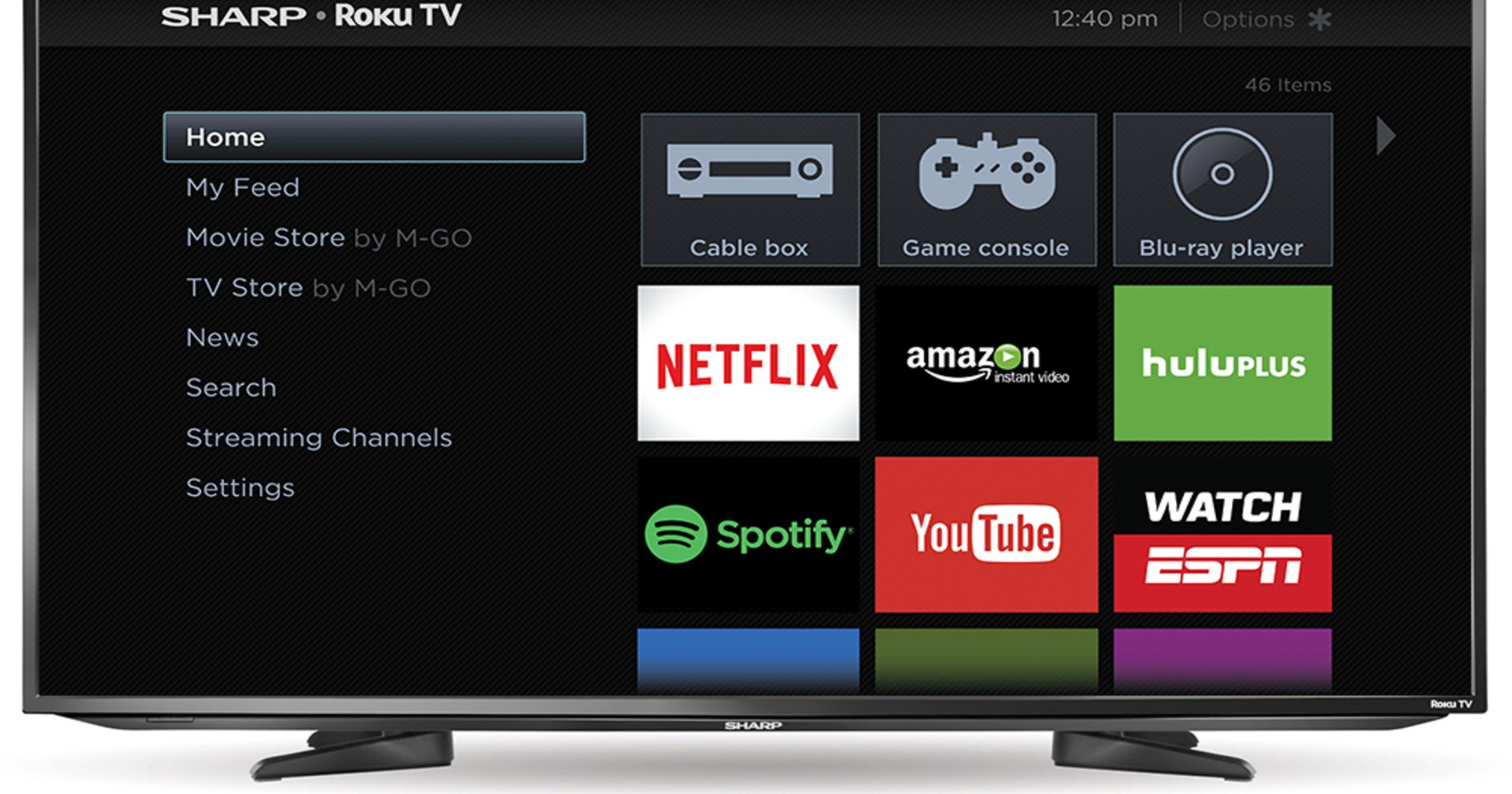 Roku expands lineup of custom TVs, adds Sharp