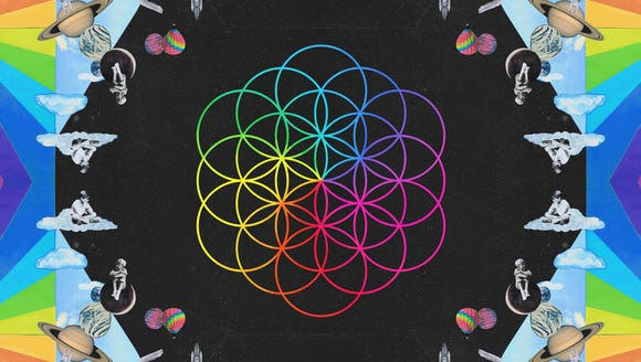 The cover of Coldplay's upcoming album, 'A Head Full