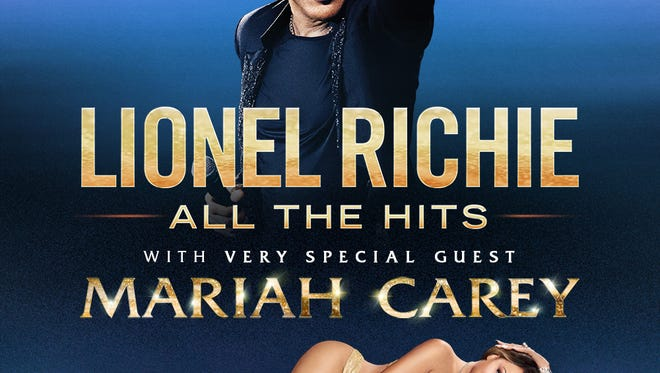 The official art for Lionel Richie and Mariah Carey's All The Hits tour.