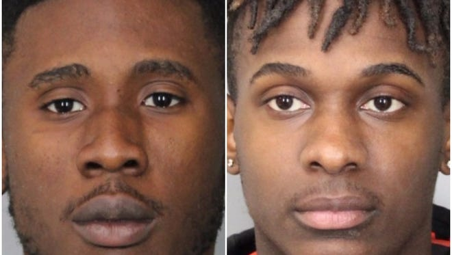 Kent A. Mautes, 21, and Miguel R. Velasquez, 20, both of Edison, New Jersey, are facing robbery, burglary and assault charges after beating a man with a rake and stealing his marijuana, according to state police.