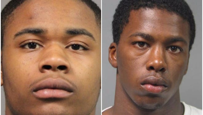 Tyrese Tilghman-Benson, left, and Raheem Fullman are facing drug charges following a traffic stop in Dover on Dec. 29.