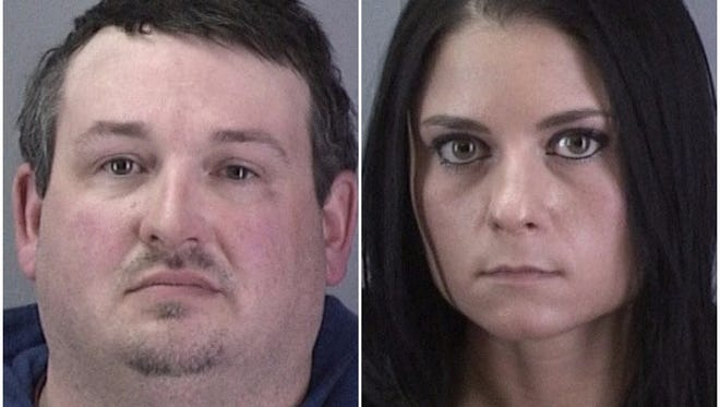 Christopher Bill and Jennifer Temelkovski, charged with third-degree criminal trespass for allegedly entering the Medley Center on Jan. 29.