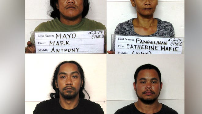 Mark Anthony Mayo, Catherine Pangelinan, Branden Ojeda and Ron Leon Guerrero Quintanilla are shown in this combined photo.