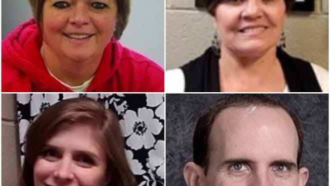 Teachers Danelle Black, Leona Schexnayder and Sombryn Williams and counselor Tim Marriott  are receiving praise for their Youth in Care efforts.