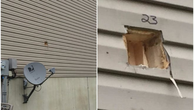 Forensic detectives recovered a bullet lodged in the exterior of a Manchester home following a shooting early Sunday morning at a high school graduation party.