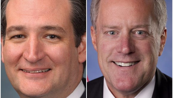 Sen. Ted Cruz, left, and Rep. Mark Meadows